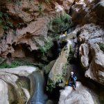 Canyoing spéléo ou Assif El Ahad dans la région d'Agadir.